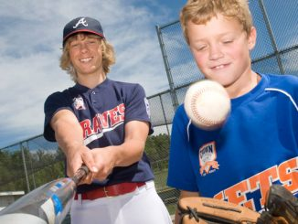 Adam Minnard, 12, left, and Caden Albright, 9, right, are heading to Yankee Stadium later this month to compete in the Pitch, Hit and Run competition.