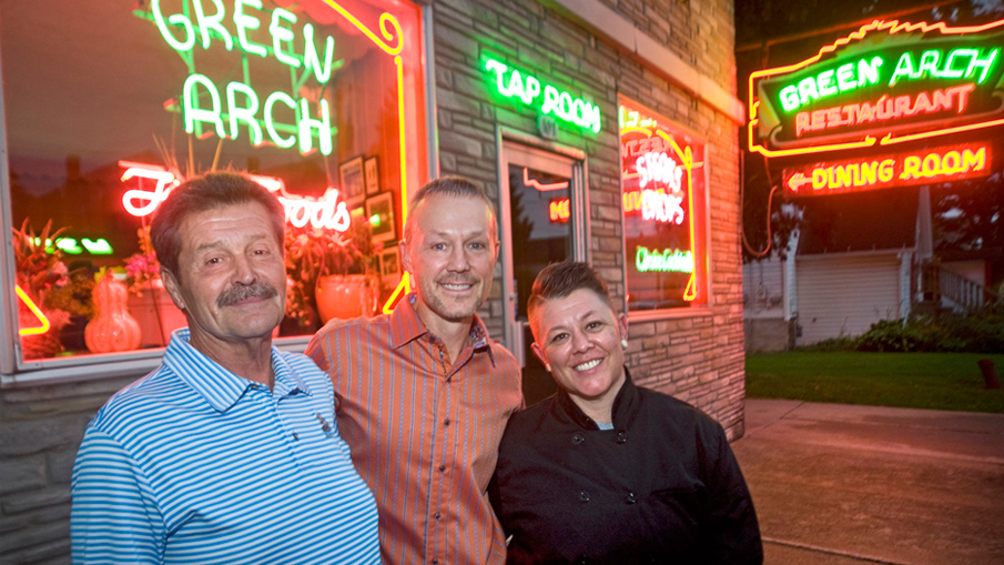 Green Arch Honors Its Past Adds Modern